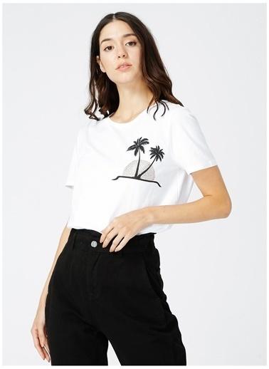 Fabrika Comfort Fabrika Comfort Kadın Beyaz Baskılı T-Shirt Beyaz